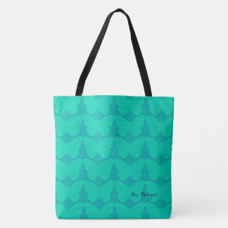 Turquoise* Butterflies(c) Multi-Sizes Tote Bag