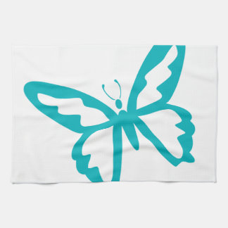 Turquoise Butterfly fly,caterpillar,pattern,insect Tea Towel