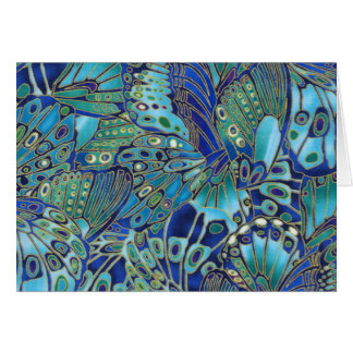 Turquoise butterfly wings card