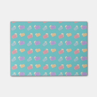 Turquoise cake pattern post-it notes