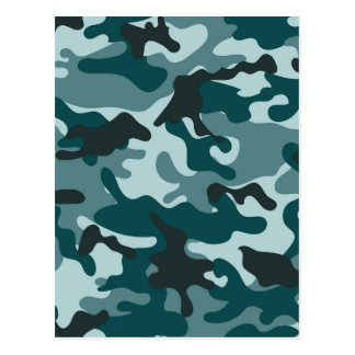 Turquoise Camouflage pattern Postcard