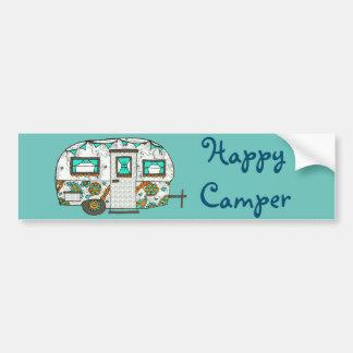 Turquoise camper bumper sticker