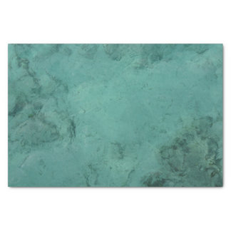 Turquoise Caribbean Tropical Sea Tissue Paper