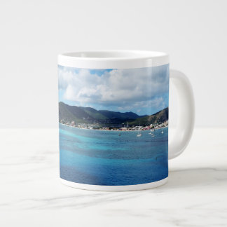 Turquoise Caribbean Waters Large Coffee Mug