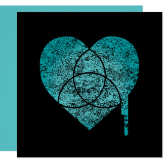turquoise chart heart card