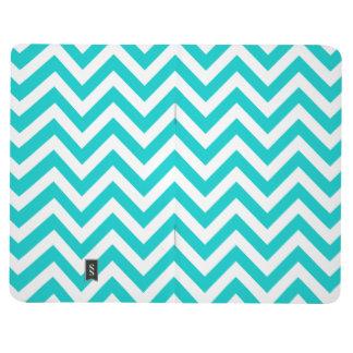 Turquoise chevron pattern pocket journal design