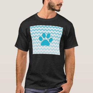 Turquoise Chevron Paw Zig Zag Monogram T-Shirt
