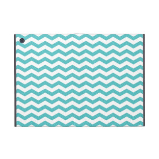 Turquoise chevron zig zag textured zigzag pattern case for iPad mini