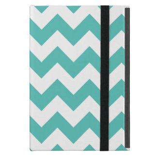 Turquoise Chevron Zigzag iPad Mini Cover