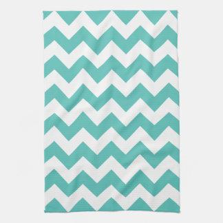 Turquoise Chevron Zigzag  Kitchen Towel