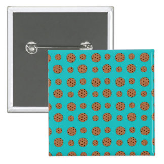 Turquoise chocolate chip cookies pattern pins