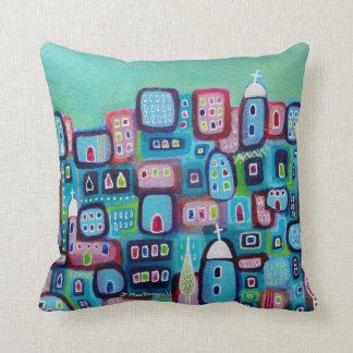 Turquoise City Cushion