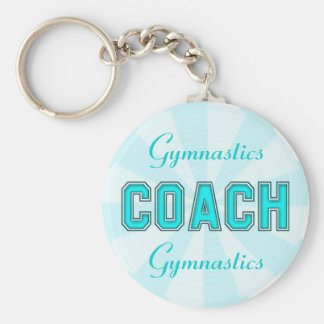 Turquoise Coach Basic Round Button Key Ring