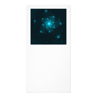 Turquoise Color Abstract Fractal Picture Card