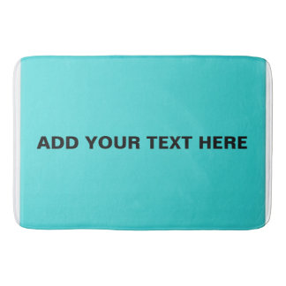 Turquoise Color Large Bath Mat