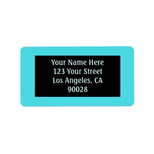 turquoise colour label