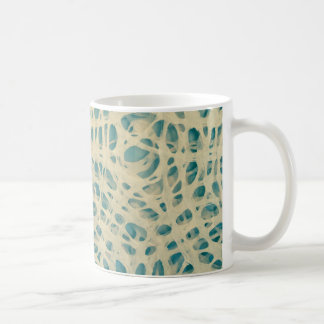 Turquoise concentric circles mugs