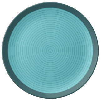 turquoise concentric porcelain plate