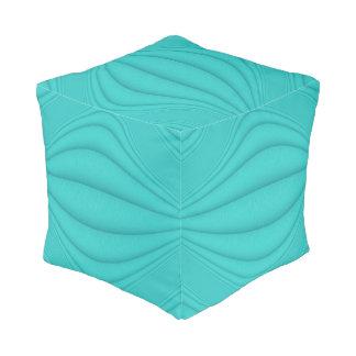 Turquoise Contour Pouf