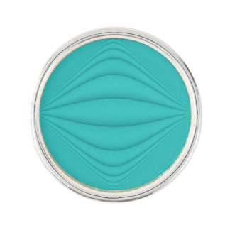 Turquoise Contours Lapel Pin