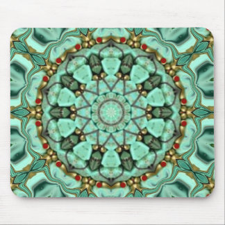 Turquoise & Coral. Mouse Pad