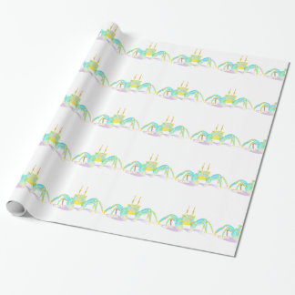 Turquoise Crab Wrapping Paper