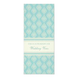Turquoise Cream Wedding Vow Renewal Invitations