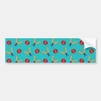 Turquoise cricket pattern bumper sticker
