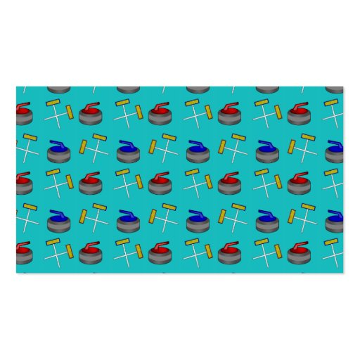 turquoise curling pattern business card templates