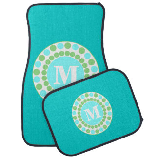 Turquoise Custom Monogram Car Mats Floor Mat