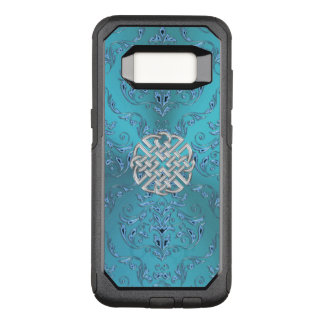 Turquoise Damask Celtic Knot OtterBox Commuter Samsung Galaxy S8 Case