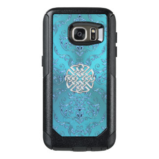 Turquoise Damask Celtic Knot OtterBox Samsung Galaxy S7 Case