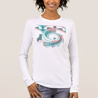 Turquoise Dawn One Sided Shirt