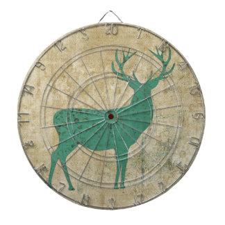 Turquoise Deer Silhouette Dartboard