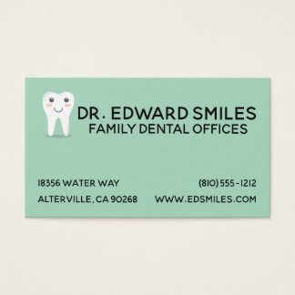 Turquoise Dentist Business Card -Dentists Cards