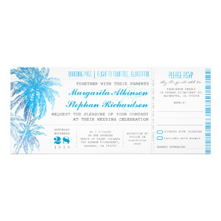 turquoise destination wedding tickets announcement