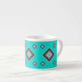 Turquoise Diamonds Espresso Mug by Janz
