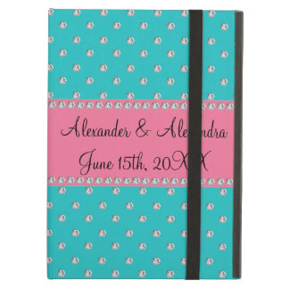 Turquoise diamonds wedding favors cover for iPad air