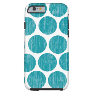 Turquoise Distressed Polka Dot iPhone 6 Tough iPhone 6 Case