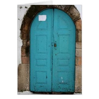 Turquoise Door Card