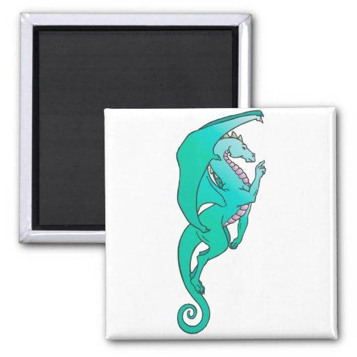 turquoise dragon refrigerator magnets