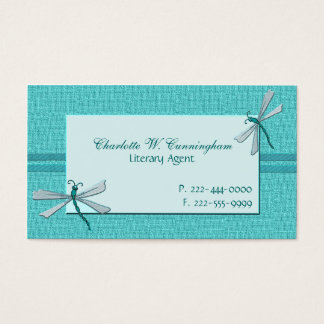 Turquoise Dragonflies Custom Business Card