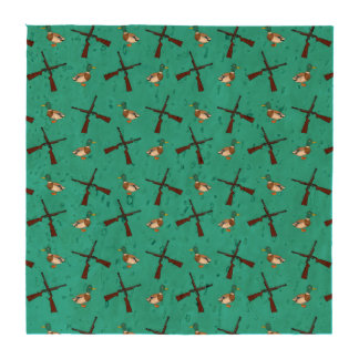 Turquoise duck hunting pattern drink coaster