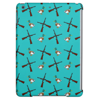 Turquoise duck hunting pattern iPad air cases