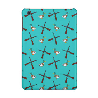 Turquoise duck hunting pattern iPad mini cover