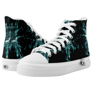 Turquoise Electric High Tops