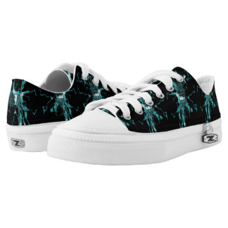 Turquoise Electric Low Tops