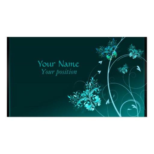 Turquoise Elegants Business Cards