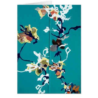 Turquoise Explosion Note Card