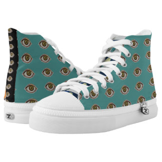 Turquoise Eye Sneakers